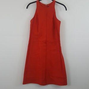 Club Monaco red silk blend a-line dress size 0